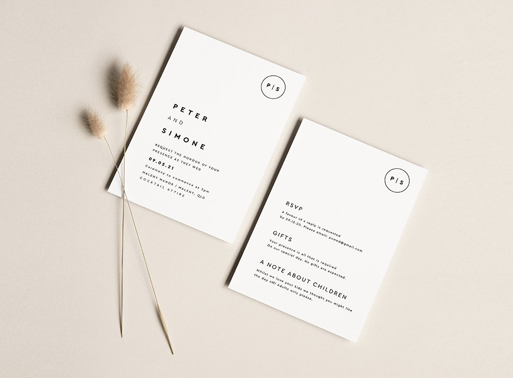 minimalist invitations