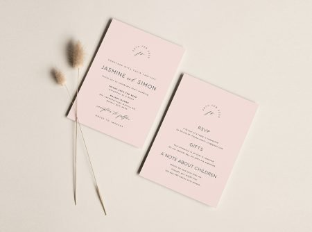 invitations blush