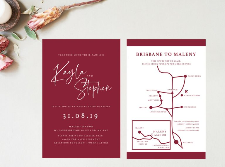 invitation map maleny manor