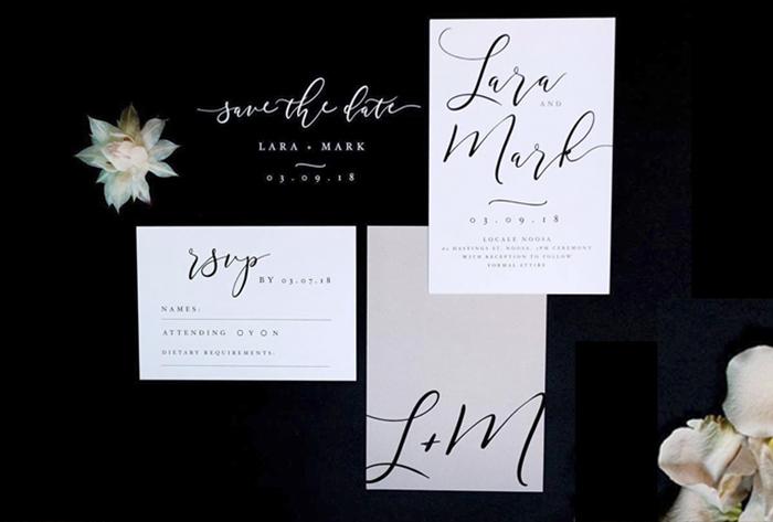 wedding invitation blush