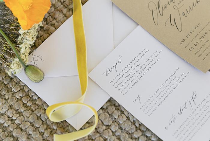 mustard invitation