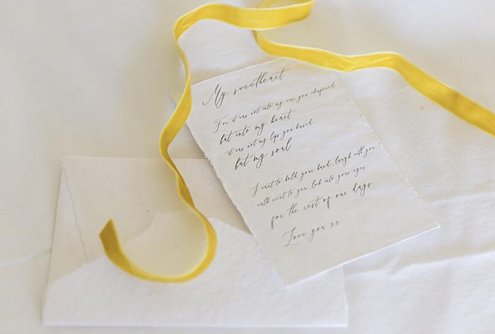 handmade paper love letter