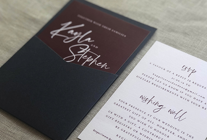 mini pocket invitation