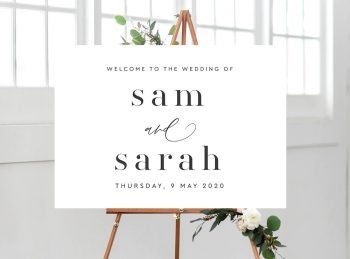 minimalist welcome sign