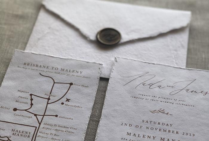 wax seal on handmade paper