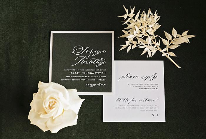 emerald green invitations