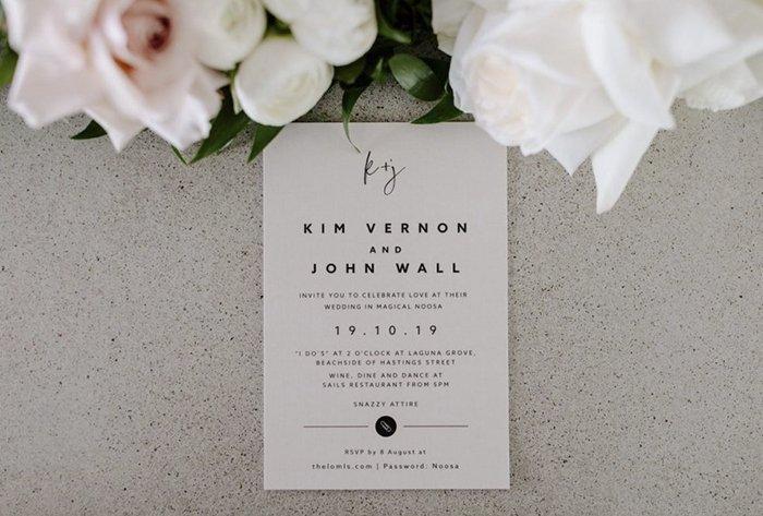 beige invitation