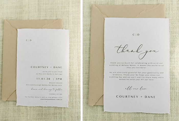 handmade paper invitation