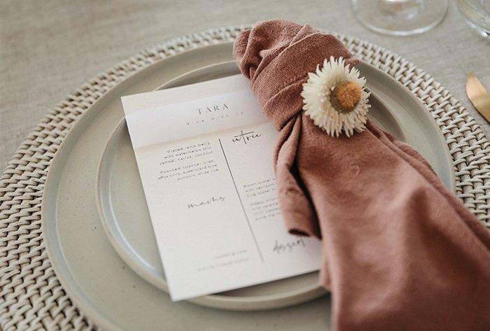 blush pink invitation