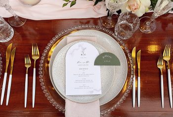 arch menu and arch place card