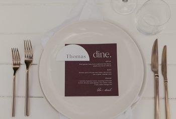 menu semi circle