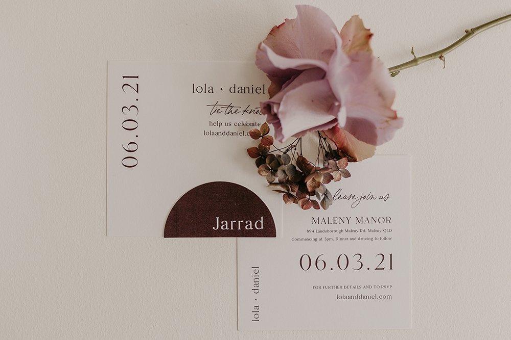 semicircle invitations