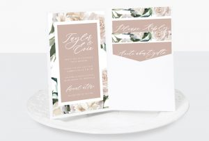 dusty pink luxe invitation suite