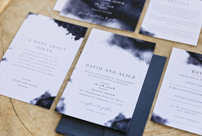 wedding invitations navy