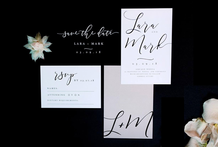 minimalist contemporary invitations